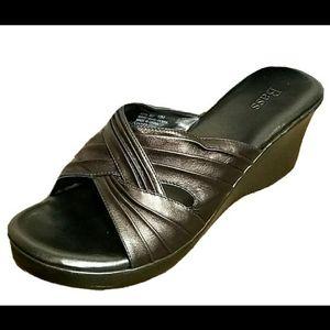 Bass Debra Peep Toe Wedge Wove Shoes Platform 10M